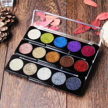 IMAGIC Glitter Eye Shadow Bright Rainbow EyeShadows Cosmetic Make up Pressed Glitters Diamond Rainbow Eyeshadows
