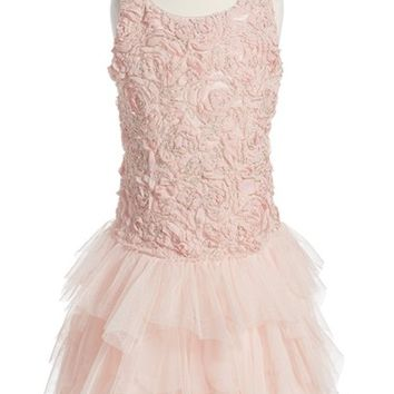 Biscotti 'Filigree Splendor' Drop Waist Dress (Toddler Girls, Little Girls & Big Girls) | Nordstrom