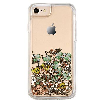 Flying Money Glitter iPhone Case