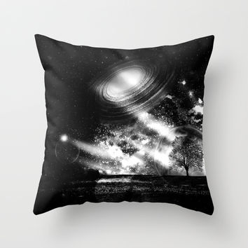 In a Lonely Place Throw Pillow by Haroulita