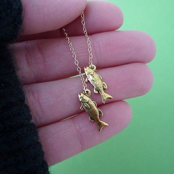 lucky koi fish earrings in gold SALE