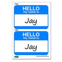 Jay Hello My Name Is - Sheet of 2 Stickers