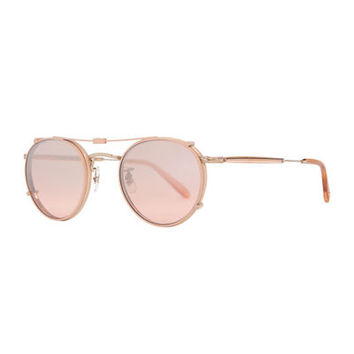 Garrett Leight Wilson Round Optical Frames w/ Sunglasses Clip