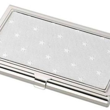 Free Engraving Personalized Business Card Holder Silver
