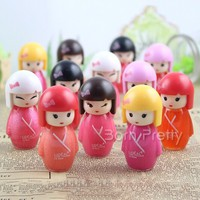 $2.99 1Pc Cute Girl Design Lip Gloss Pretty Moisture Gloss For Lip Makeup - BornPrettyStore.com