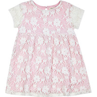 River Island Mini girls pink smock dress