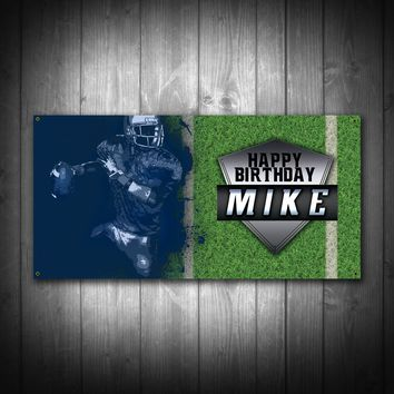 Customized Football Birthday Party Banner