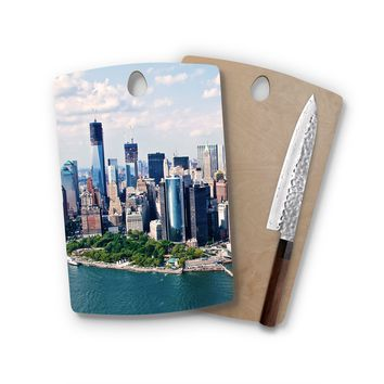 New York City Skyline Rectangle Cutting Board Trendy Unique Home Decor Cheese Board