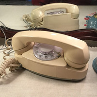 Vintage Princess Phone , Ivory Telephone , Rotary Dial Phone , Vintage 60s Phone , Ivory Princess Phone , Western Electric Working Phone