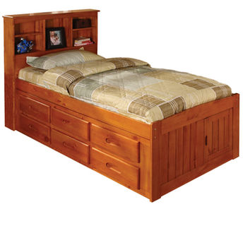 American Furniture Classics Bookcase Twin Bed In Honey