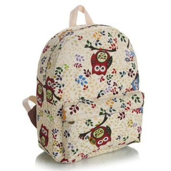 CREYUG3 Korean Cats Cute Lovely Canvas Backpack = 4887633220