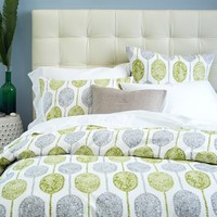 Dot Medallion Duvet Cover + Shams - Caper
