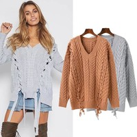 Women's Fashion V-neck Sweater [31069470746]