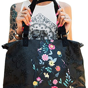 Loungefly Disney Alice Printed Applique Faux Leather Tote Convertible Shoulder Bag