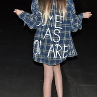 come as you are Nirvana flannel shirt