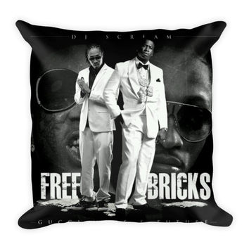 Free Bricks (16x16) All Over Print/Dye Sublimation Future Gucci Mane Couch Throw Pillow Insert & Pillow Case/Cover