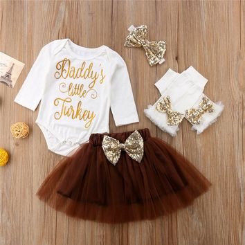 f94156eb6ef2 Newborn Baby Girls Party Tutu Outfits Tops Romper Skirts Leg War