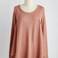 Mid-length Long Sleeve Swing Out Loud Top