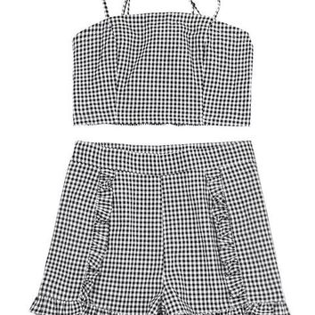 Gingham Two Piece Set