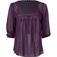 FULL TILT Lace Trim Womens Top 186716750 | blouses & shirts | Tillys.com