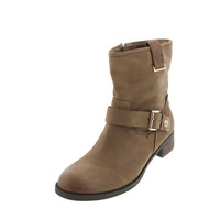 Tommy Hilfiger Womens Fate Leather Round Toe Ankle Boots