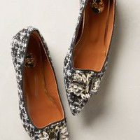 Tweedy Jeweled Flats