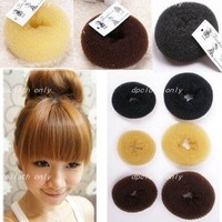 New 3 Sizes 3 Colors Hair Bun Donut Ring Sponge Shaper Maker Builder Hair Tool