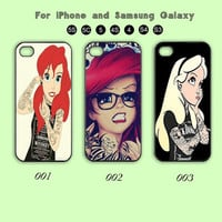 Disney,Princesses,Tattoo,iPhone 5 case, iPhone 5C , iPhone 5S , iPhone 4 , iPhone 4S , Case,Samsung Galaxy S3, Samsung Galaxy S4