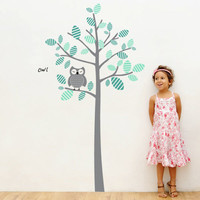 Wall Decal Owl on a Tree - 4make - CoolWallArt
