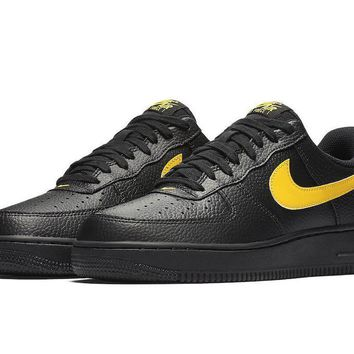 qiyif Nike Air Force 1 Low LV8  Black & Yellow