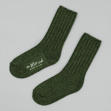 Merino Wool Ragg Socks, Forest Green
