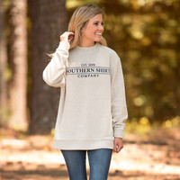 Loop Knit Terry Pullover in Pebble by The Southern Shirt Co.