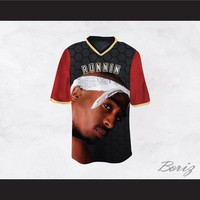 Tupac Shakur Makaveli 6 Runnin Black/Red Football Jersey