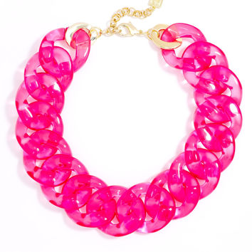 Clear Links Collar Necklace