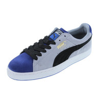 Puma Mens Stripes and Blocks Suede Colorblock Casual Shoes