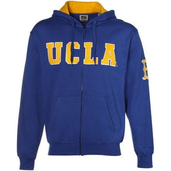 UCLA Bruins True Blue Classic Twill Full Zip Hoodie Sweatshirt