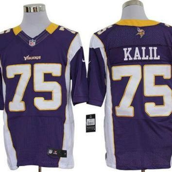 Nike Vikings #75 Matt Kalil Purple Team Color Mens Nfl Elite Jersey - Beauty Ticks