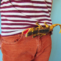 Crocodile Belt Bucle - Alligator Belt Buckle - Giant Toy Belt Buckle - Novelty Belt Buckle - Upcycle Recycle Belt Buckle - Huge Belt Buckle