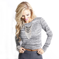 Lola Cropped Top: Grey