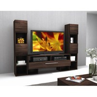 dCOR design Eternity Entertainment Center in Pecan | Wayfair