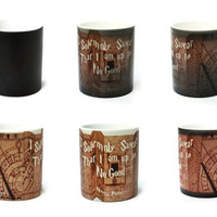 Harry Potter Mug, Coffee Mug, Color Changing Mug, Marauders Map, Ceramic Coffee Mug, Magical Mug, Marauder's Map, Harry Potter Cup, Hogwarts