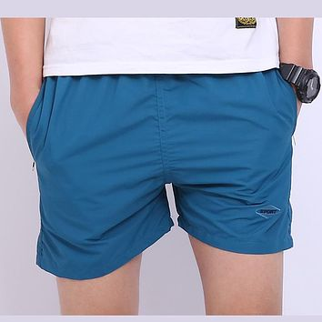 New Arrival Men Basic Beach Short Pants Fashion Shorts Elastic Waist Mid Loose Knee Length Fitness Men's Pants High Quality