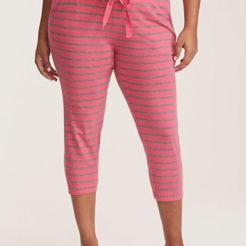 Sleep Striped Crop Pajama Pants