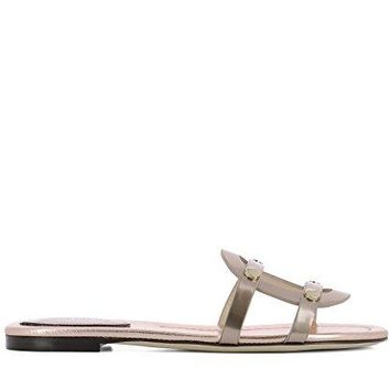 JIMMY CHOO Women's DAMARISFLATMITROSE Pink Leather Sandals