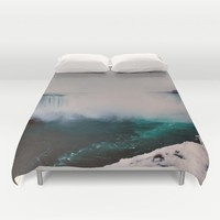 Niagara Falls Duvet Cover by Aaron Carberry