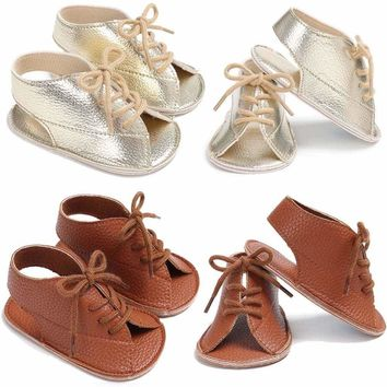 Newborn Baby Shoes Boy Girl Soft Sole Sneaker Crib Shoes Size For 0-18month