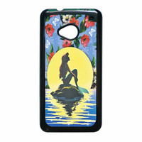 Disney Princess Ariel The Little Mermaid Floral Vintage HTC One M7 Case