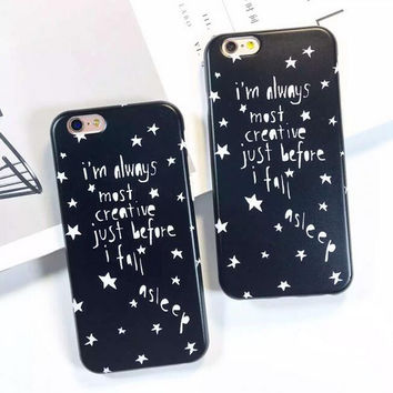 Super cool star letter phone case for iphone 6 6s 6 plus 6s plus + Nice gift box 080902
