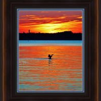 Stretching Framed Print