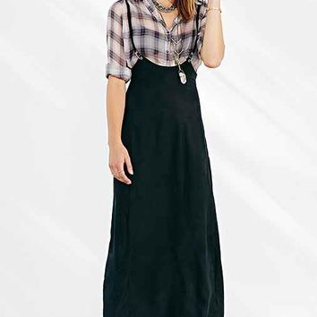 Silence + Noise Suspender Maxi Skirt- Black